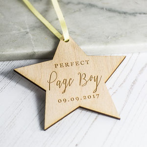 'Perfect Page Boy' Personalised Gift