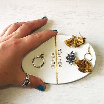 Handmade 'Ring And Things' Metallic Trinket Dish