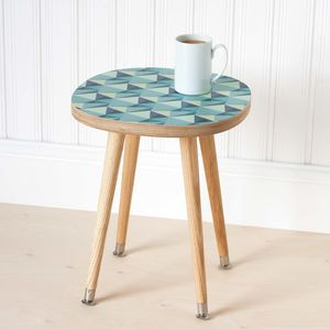 Side Table Birch Plywood With Laminated Surface - furniture