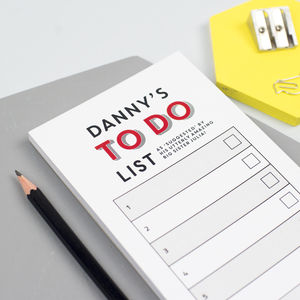 Personalised 'To Do' List Notepad - gifts for him