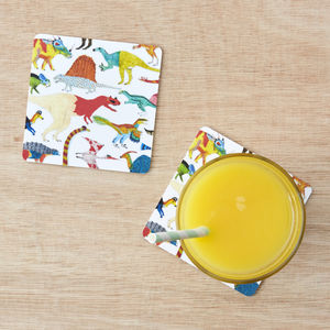 Dinosaur Coasters Set Of Two - placemats & coasters