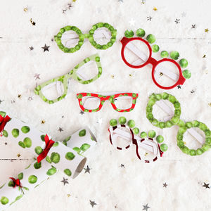 Christmas Sprout Novelty Party Glasses - christmas accessories