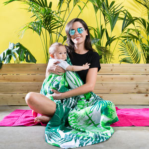 Contemporary Tropical Print Baby Muslin Blanket For Mum - for new mums