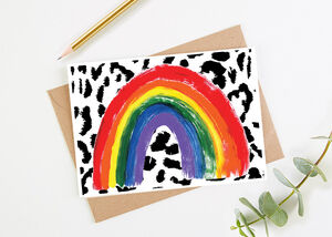 Rainbow Of Hope Greetings Card With Nhs Donation