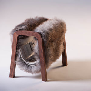 Sheepskin Magazine Rack - living room