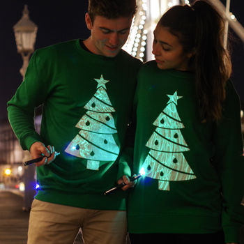 Interactive Glow Christmas Tree Jumper