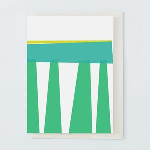 Green And Turquoise Greetings Card