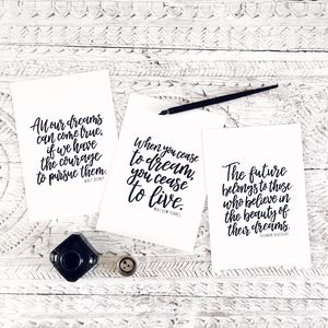 Dream Calligraphy Print Collection