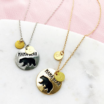 Personalised Mama Bear Mother's Necklace