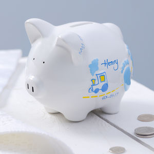 Personalised Ceramic Piggy Bank - what's new