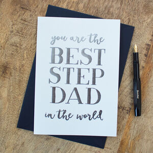 Foil 'Best Stepdad In The Whole World' Card