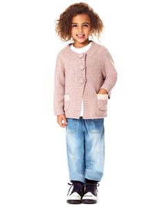 Girls' Special Day Cashmere Cardigan In Pink And Red