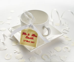 Personalised Chocolate Wedding Favours X 10