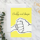 Daddy And Me Fist Bump Card A5
