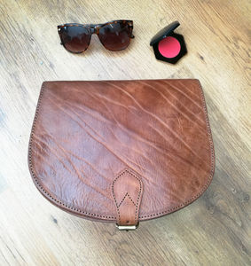 Sam Leather Saddle Bag