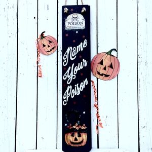 Personalised Halloween Sign Reclaimed Wood - party decorations