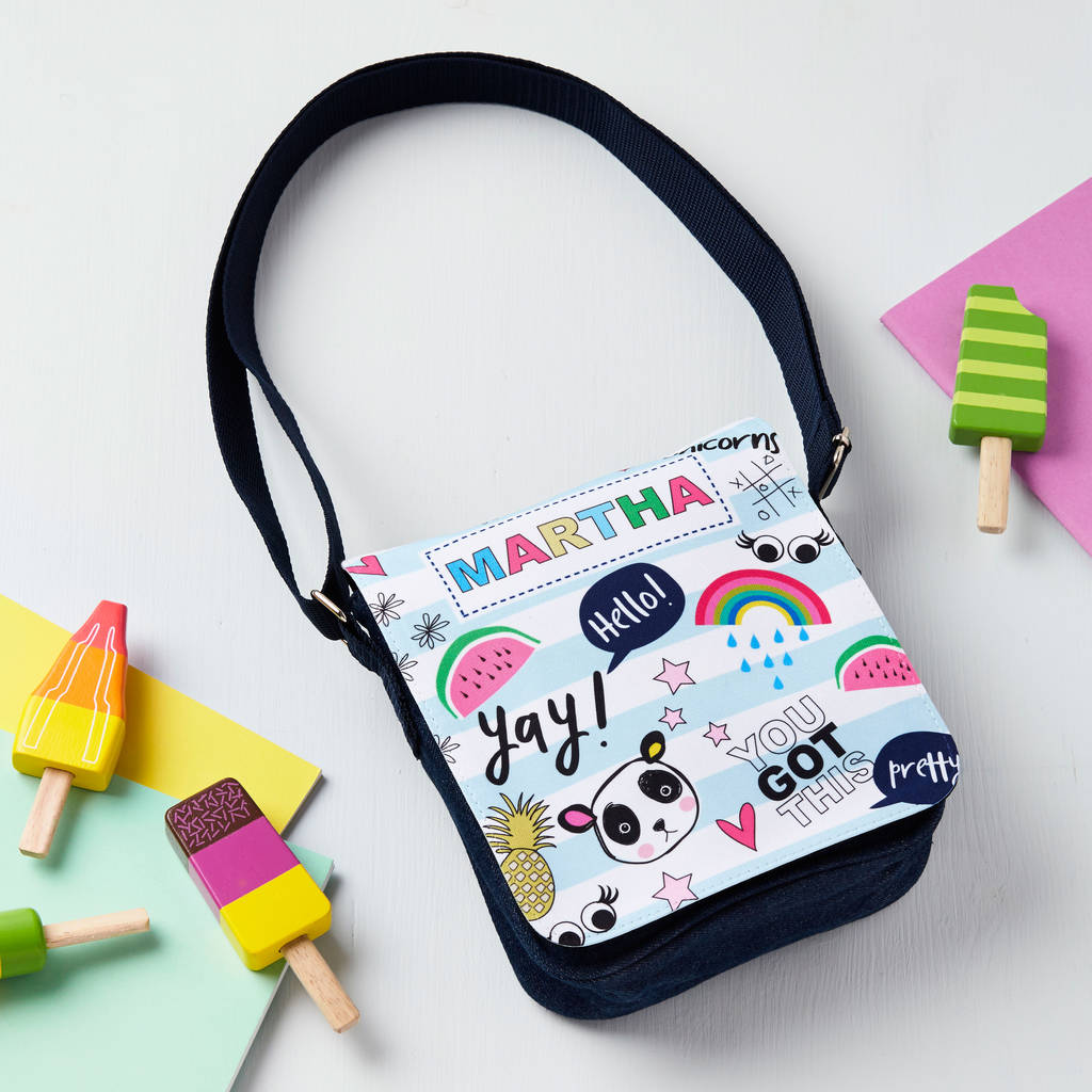 Girls Personalised Doodle Style Bag