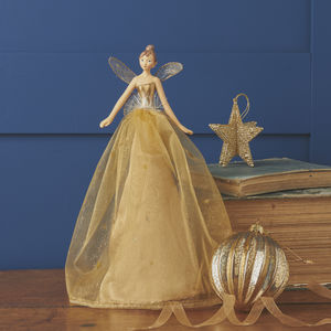 Gold Fairy Christmas Tree Topper