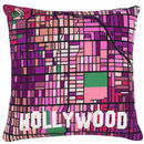 Contemporary Hollywood Black City Map Tapestry Kit