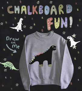 Childs Dinosaur Chalkboard Sweatshirt - clothing