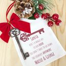 Personalised Santa Magic Key In Keepsake Pouch