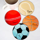 Sports Balls Personalised Coaster