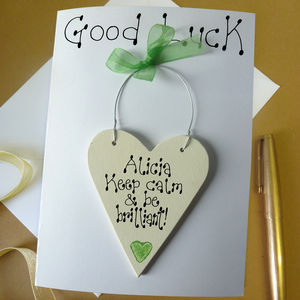 Personalised Good Luck Card - good luck cards