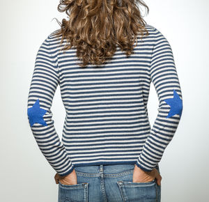 Stripe Cashmere Star Jumper