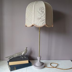 Blush Patchwork Brass Lamp - table lamps