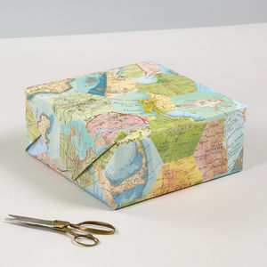 Patchwork Map Location Luxury Gift Wrapping Paper - wedding wrap
