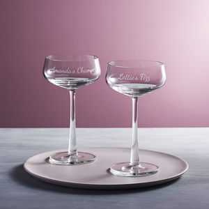 Personalised Champagne Saucer - valentine's gifts for her