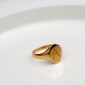 Alphabet Signet Ring