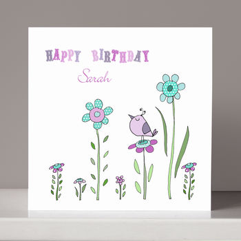 Personalised Little Bird Birthday Card