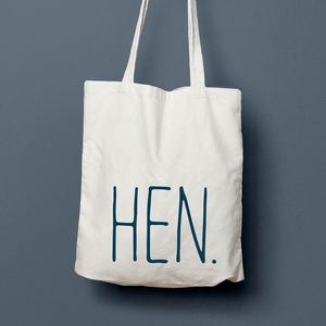 Hen Simple Bridesmaid Gift Favour Tote Bag - bags & purses