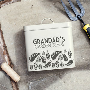 Personalised Garden Tools Tin