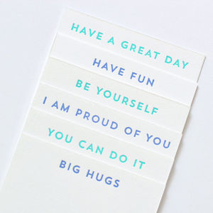 Lunchbox Notes - just because gifts