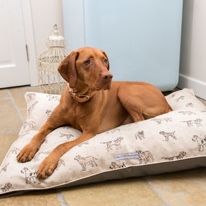 Dog Print Pillow Dog Bed