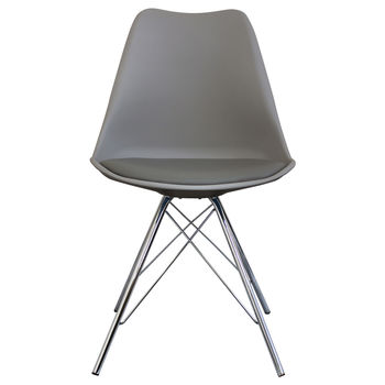Cool Grey Copenhagen Chair With Chrome Legs