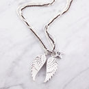 Multi Chain Double Angel Wing Necklace