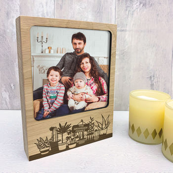 Personalised Plant Pots Photo Block