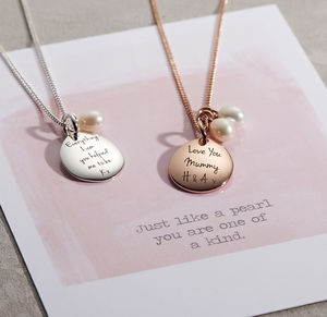 Personalised Pearl Necklace - gifts from older children