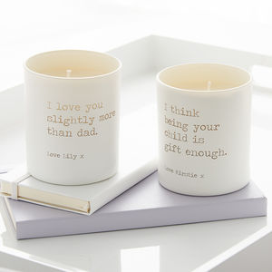 Personalised Cheeky Mother's Day Candle