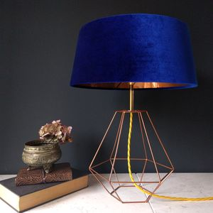 Cobalt Blue Deco Lamp - table lamps