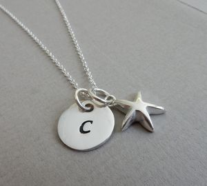 Silver Personalised Star Charm Necklace