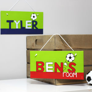 Personalised Football Team Canvas Sign - baby's room