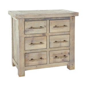 Drift Reclaimed Wood Six Drawer Chest