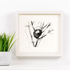 Baby Elephant Bird - nursery pictures & prints