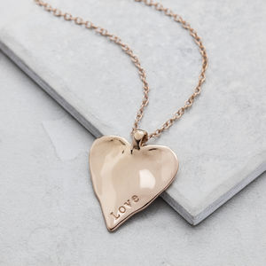 Rose And Gold Maxi Heart Necklace