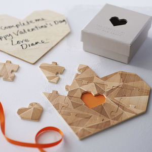 Wooden Heart Jigsaw Puzzle - gifts for him