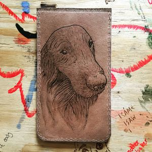 Fully Personalised Leather Pet Phone Case